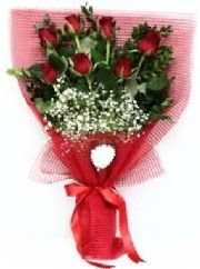 7 adet kırmızı gülden buket tanzimi  Diyarbakır çiçek gönderme