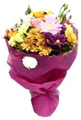 1 demet karışık görsel buket  Diyarbakır ucuz çiçek gönder