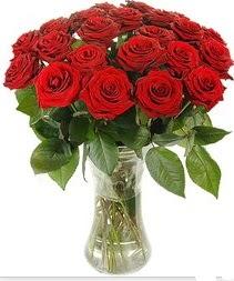 Diyarbakır internetten çiçek satışı  Vazoda 15 adet kırmızı gül tanzimi