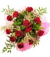 12 adet kırmızı gül buketi  Diyarbakır çiçek , çiçekçi , çiçekçilik