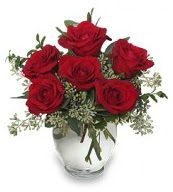 Vazo içerisinde 5 adet kırmızı gül  Diyarbakır güvenli kaliteli hızlı çiçek