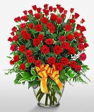 Görsel vazo içerisinde 101 adet gül  Diyarbakır çiçek gönderme