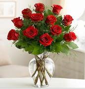 Vazo içerisinde 12 kırmızı gül  Diyarbakır çiçek online çiçek siparişi