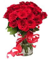 21 adet vazo içerisinde kırmızı gül  Diyarbakır çiçek online çiçek siparişi
