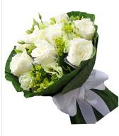 9 adet beyaz gül buketi  Diyarbakır yurtiçi ve yurtdışı çiçek siparişi