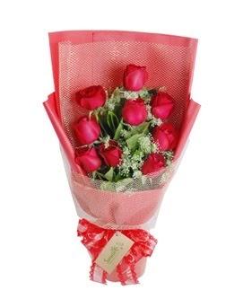 9 adet kırmızı gülden görsel buket  Diyarbakır çiçek mağazası , çiçekçi adresleri
