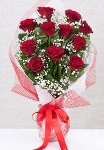 11 kırmızı gülden buket çiçeği  Diyarbakır çiçek , çiçekçi , çiçekçilik