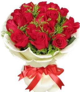 19 adet kırmızı gülden buket tanzimi  Diyarbakır çiçek siparişi sitesi