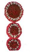 Diyarbakır internetten çiçek satışı  3 katli Beyaz glayöllerden sepet
