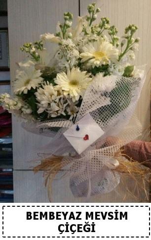 Bembeyaz görsel mevsim çiçek buketi  Diyarbakır 14 şubat sevgililer günü çiçek