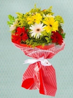 Karışık Gelbera Buketi  Diyarbakır yurtiçi ve yurtdışı çiçek siparişi