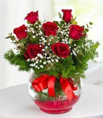 fanus Vazoda 7 Gül  Diyarbakır çiçek servisi , çiçekçi adresleri