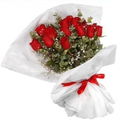 9 adet kırmızı gül buketi  Diyarbakır güvenli kaliteli hızlı çiçek