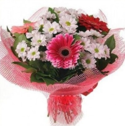 Gerbera ve kır çiçekleri buketi  Diyarbakır İnternetten çiçek siparişi
