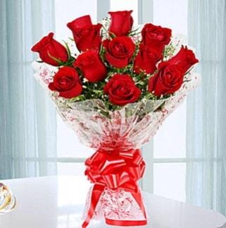 11 adet kırmızı gülden görsel şık buket  Diyarbakır çiçek mağazası , çiçekçi adresleri