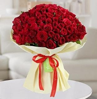 101 adet kırmızı gül buketi koca demet  Diyarbakır İnternetten çiçek siparişi