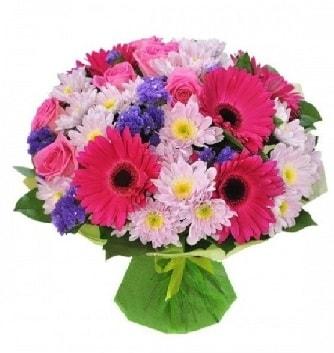 Karışık mevsim buketi mevsimsel buket  Diyarbakır çiçek online çiçek siparişi
