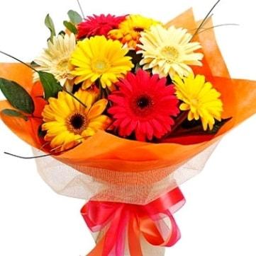 9 adet karışık gerbera buketi  Diyarbakır çiçek servisi , çiçekçi adresleri