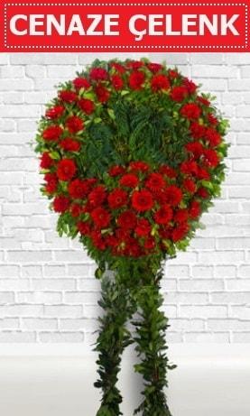 Kırmızı Çelenk Cenaze çiçeği  Diyarbakır cicekciler , cicek siparisi