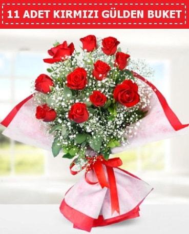 11 Adet Kırmızı Gül Buketi  Diyarbakır İnternetten çiçek siparişi