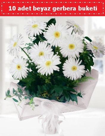 10 Adet beyaz gerbera buketi  Diyarbakır çiçek servisi , çiçekçi adresleri
