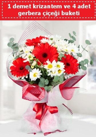Krizantem ve Gerbera Buketi  Diyarbakır yurtiçi ve yurtdışı çiçek siparişi