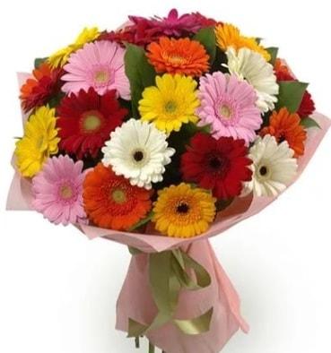 Karışık büyük boy gerbera çiçek buketi  Diyarbakır çiçek online çiçek siparişi