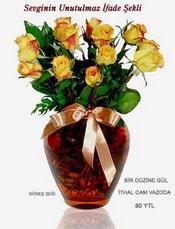 Diyarbakır online çiçekçi , çiçek siparişi  mika yada Cam vazoda 12 adet sari gül